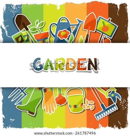 background with garden sticker
