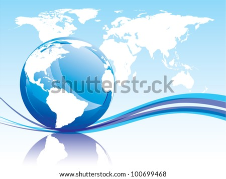 Background with globe. 8 eps.