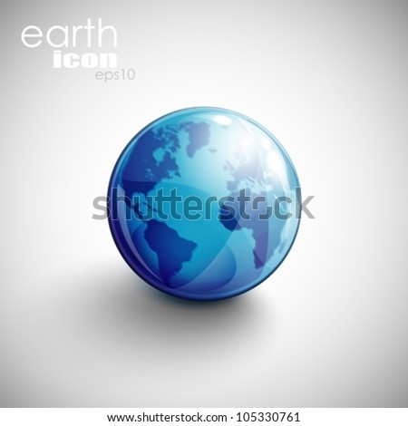 background with globe icon