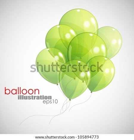 background with green balloons