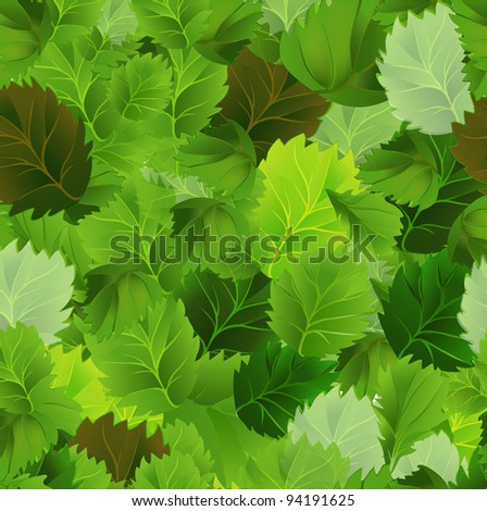 Background with green leaves. EPS 10