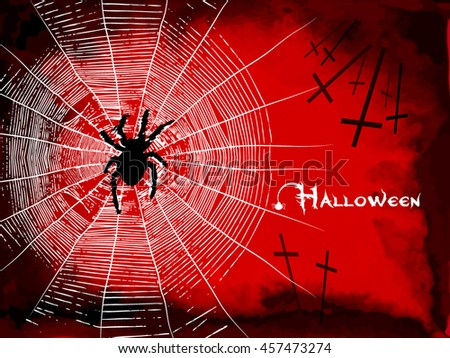 Background with Halloween cobwebs. Vector