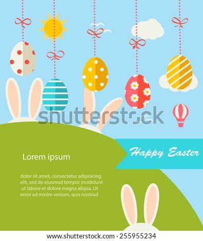 background with hanging eggs