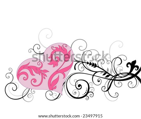 background with heart - stock vector