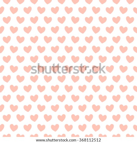background with hearts peach