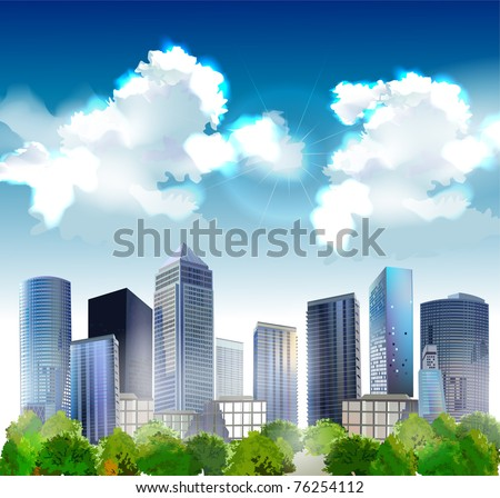 background with hi-rise buildings