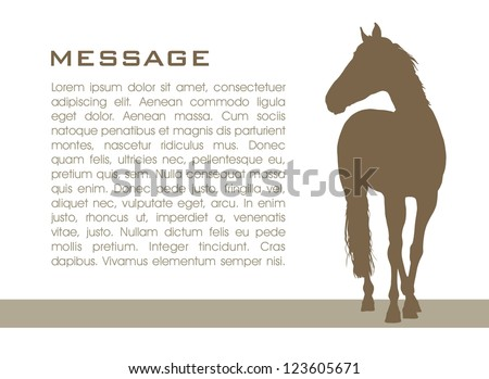 Background with horse vector illustration