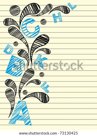 background with isolated artistic design paper, vector illustration