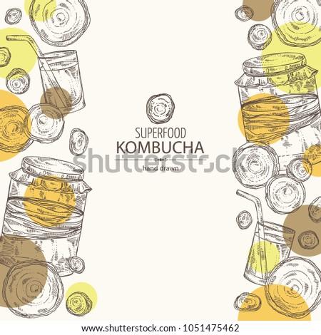 background with kombucha