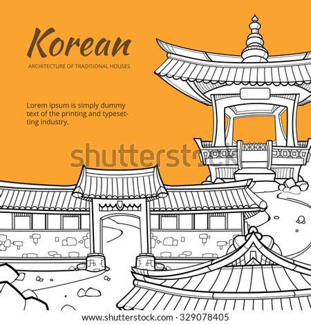 background with korean