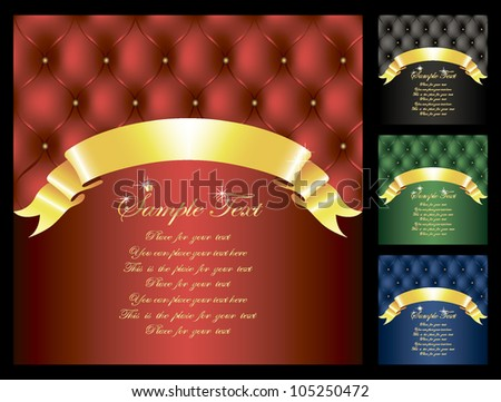 background with leather upholstery in four colors