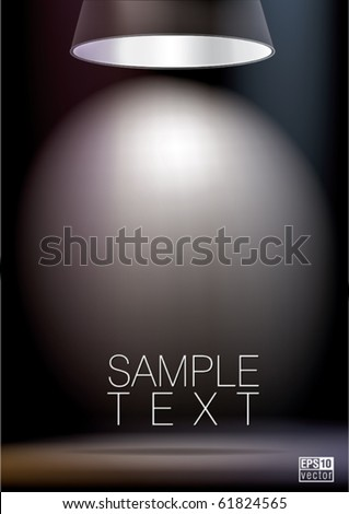 Background with lighting lamp. Empty space for your text or object, eps10 vector