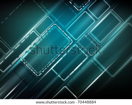Background - with lines and squares -  energy blue