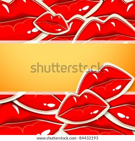 background with lips. eps10