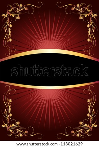 Background with luxurious golden ornament