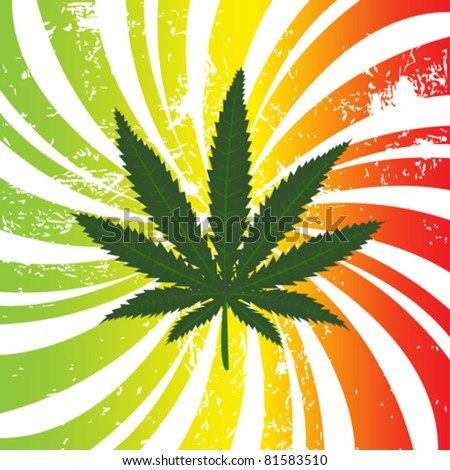Background with marijuana leaf