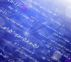Background with mathematical formulas. Eps 10