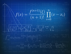 Background with mathematical formulas. Vector illustration.
