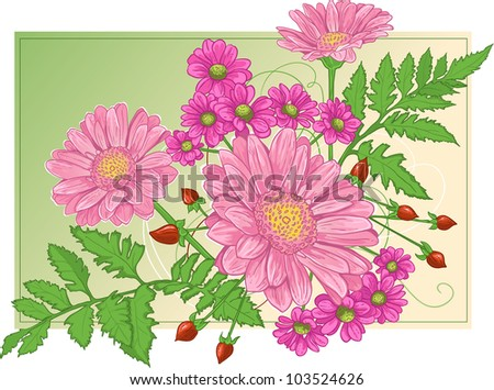 Background with mix of flowers