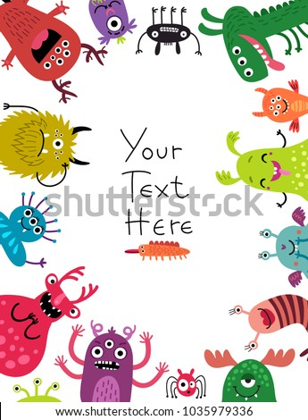 Background with monsters Foto stock ©
