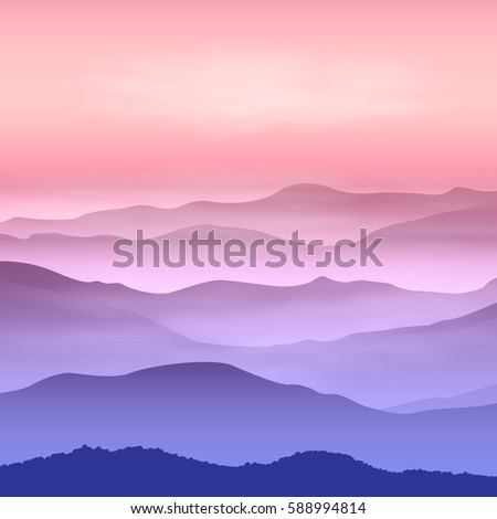 background with mountains in