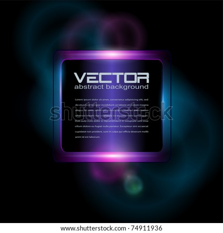 Background with neon glowing, vector.