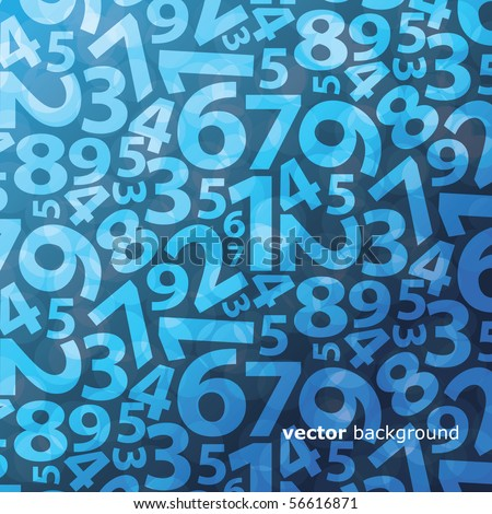 Background with numbers