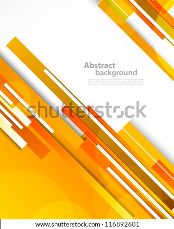 Background with orange lines. Abstract colorful illustration
