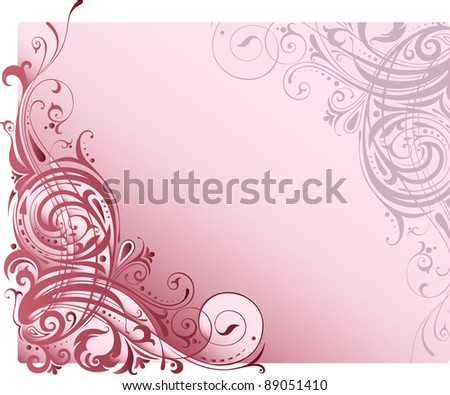 Background with ornamental motifs
