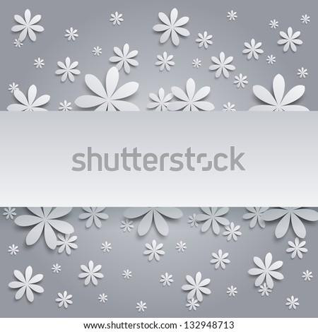 Background with paper flowers