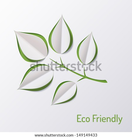 background with paper tree