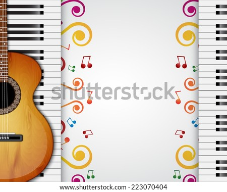 background with piano keys and