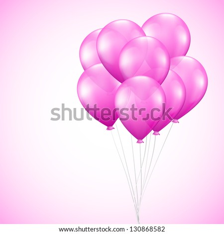 Background with pink balloons