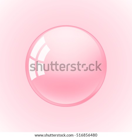 background with pink bubble gum vector illustration