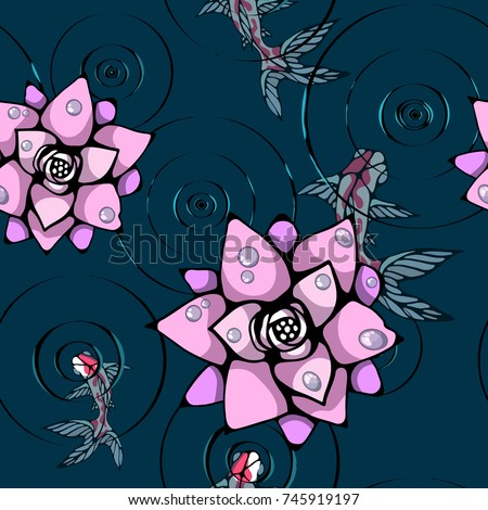 background with pink lotuses