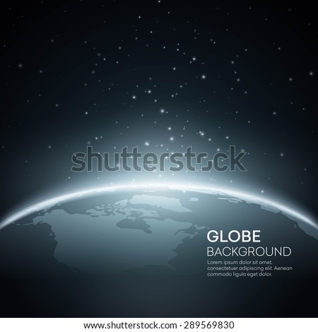 background with planet earth