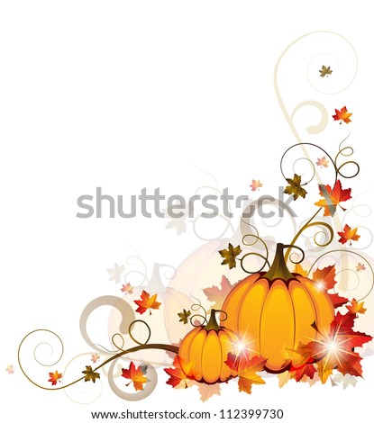 Background with Pumpkins - EPS 10