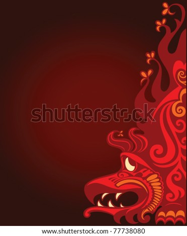 background with red dragon