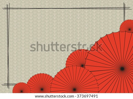 background with red japanese