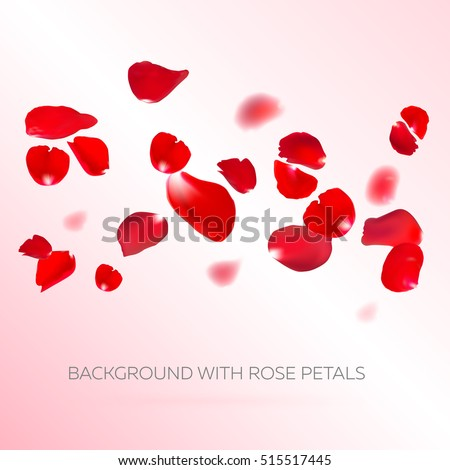 background with red rose petals