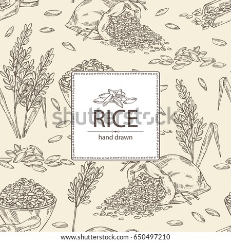 background with rice  plate