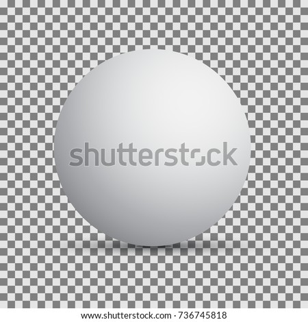 Background with round sphere. Vector illustration