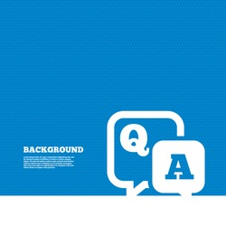 Background with seamless pattern. Question answer sign icon. Q&A symbol. Triangles texture. Vector