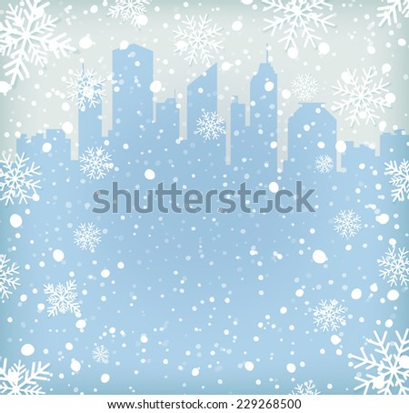 background with snow flakes and