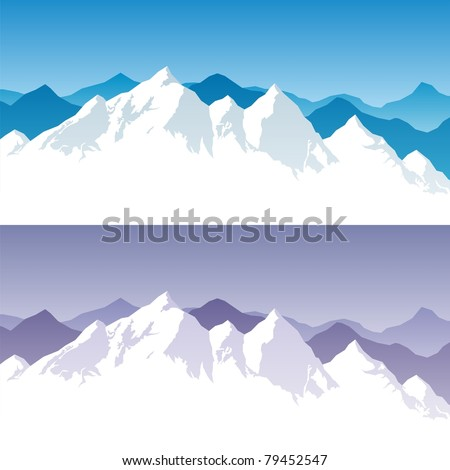 background with snowy mountain