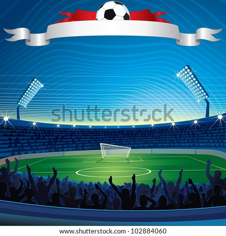 background with soccer stadium