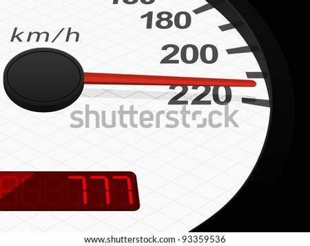 Background with speedometer. Vector illustration.