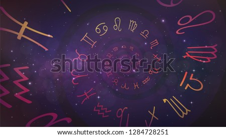 background with spiral symbols