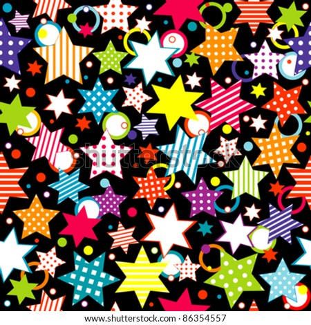 Background with stars and circles