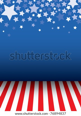 Background with stars decorative and floor